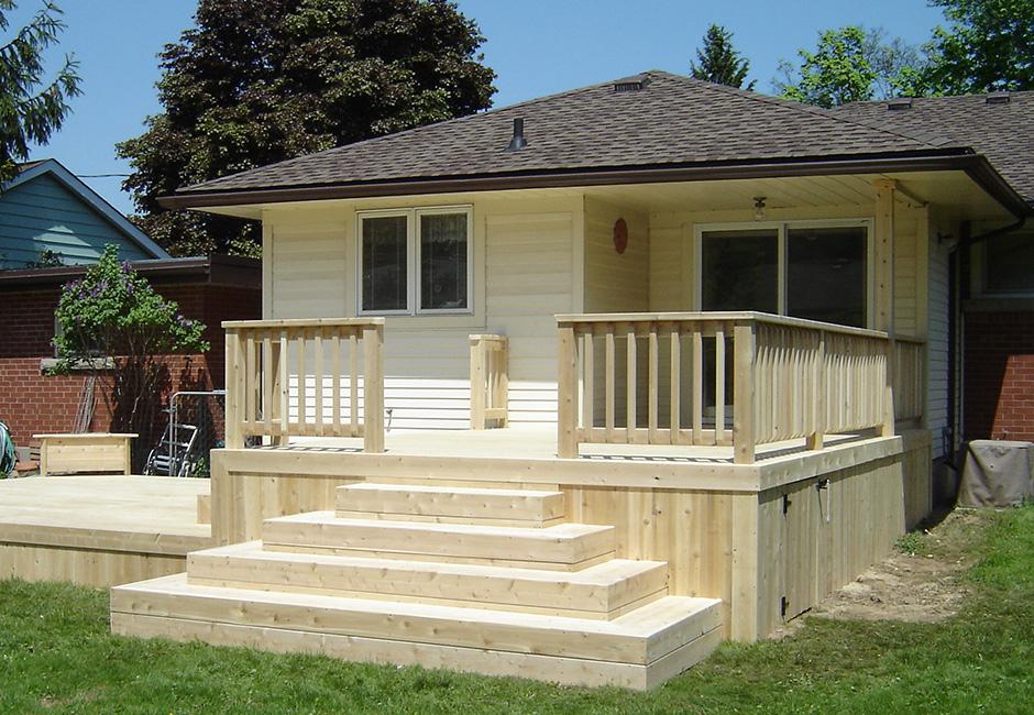 Custom cedar deck