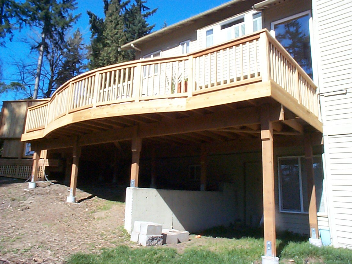 Custom deck and handrail