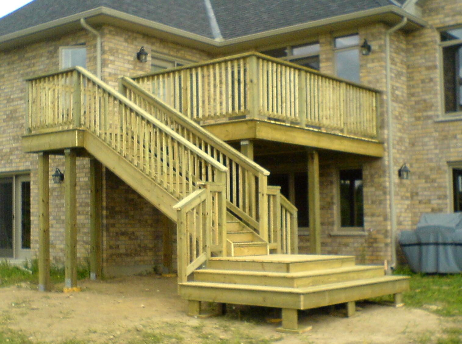 Pressure treated deck and stairs