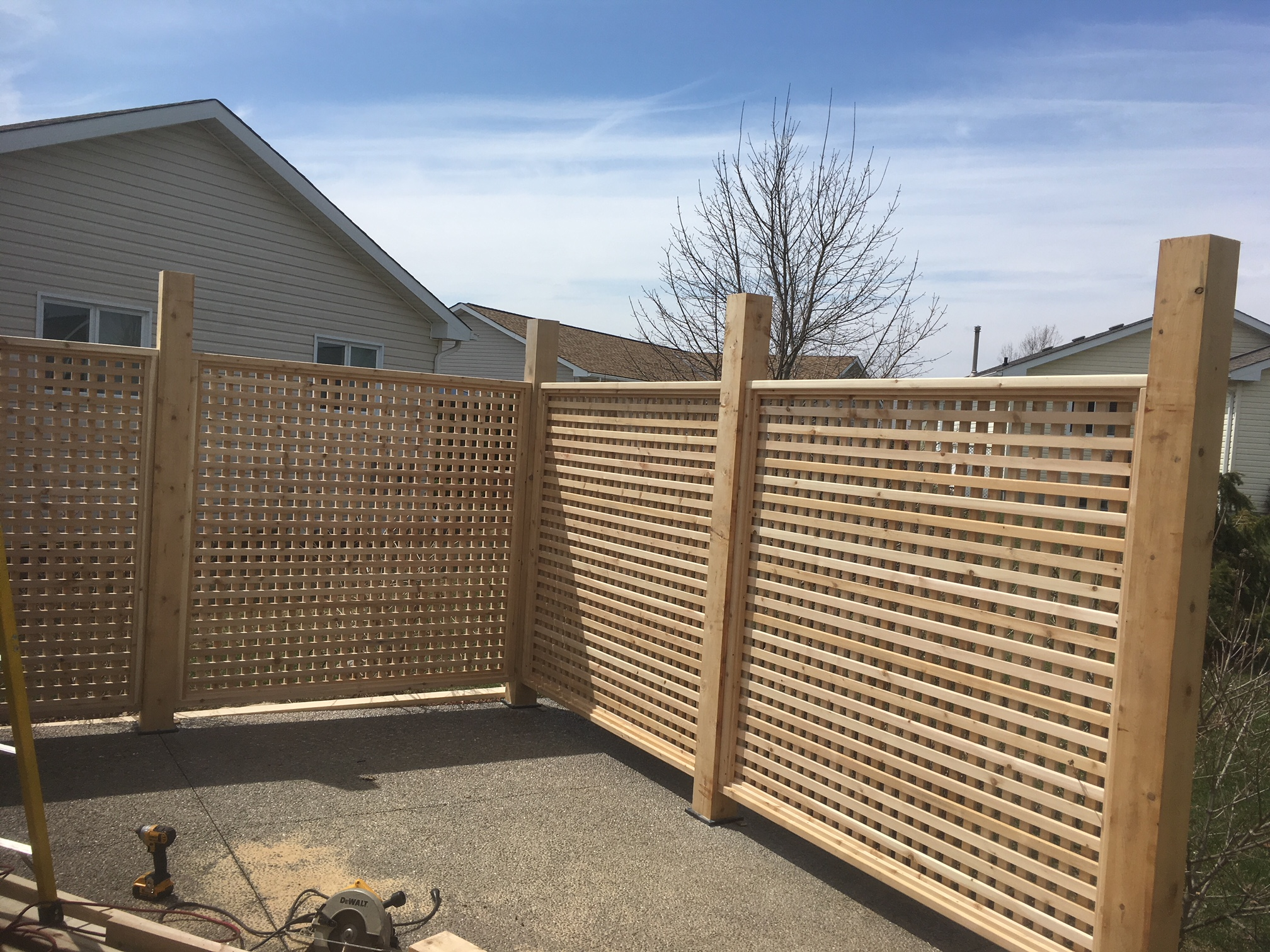 Cedar screen