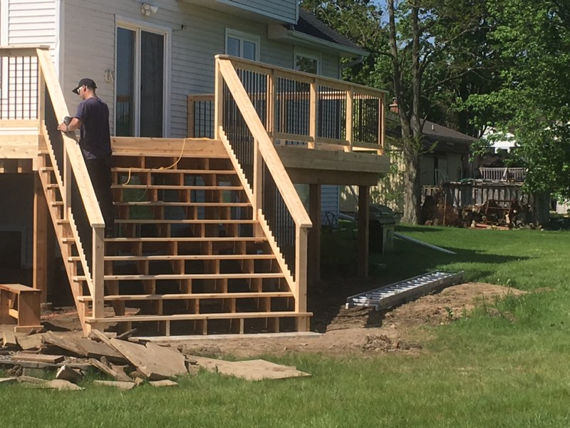 Custom cedar deck and stairs