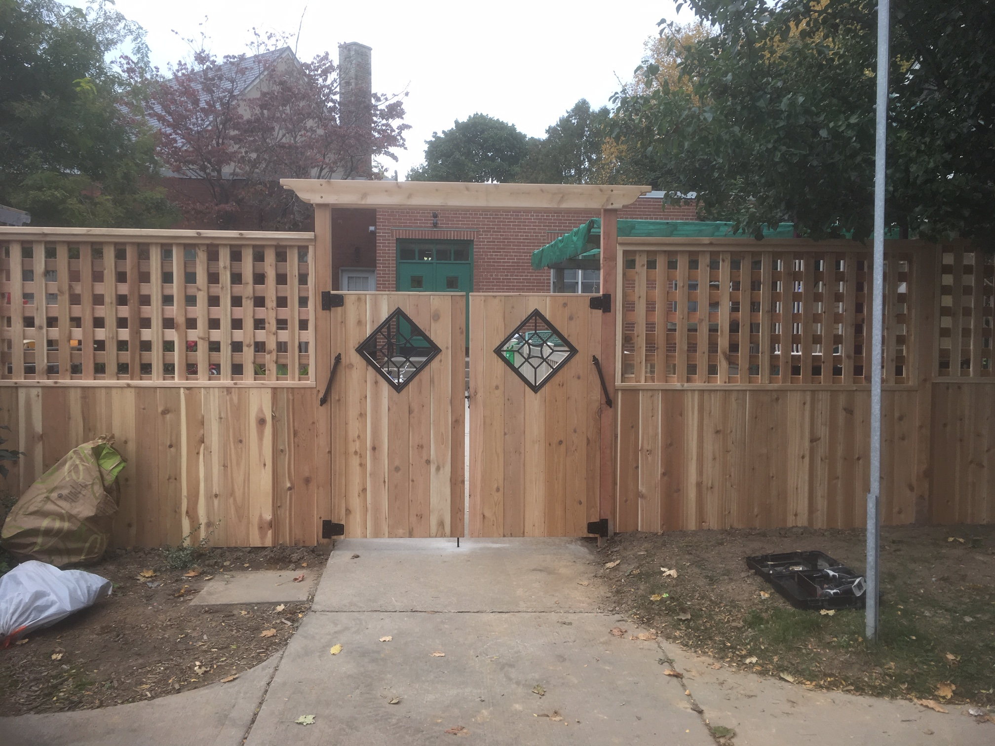 Custom cedar fence and gates