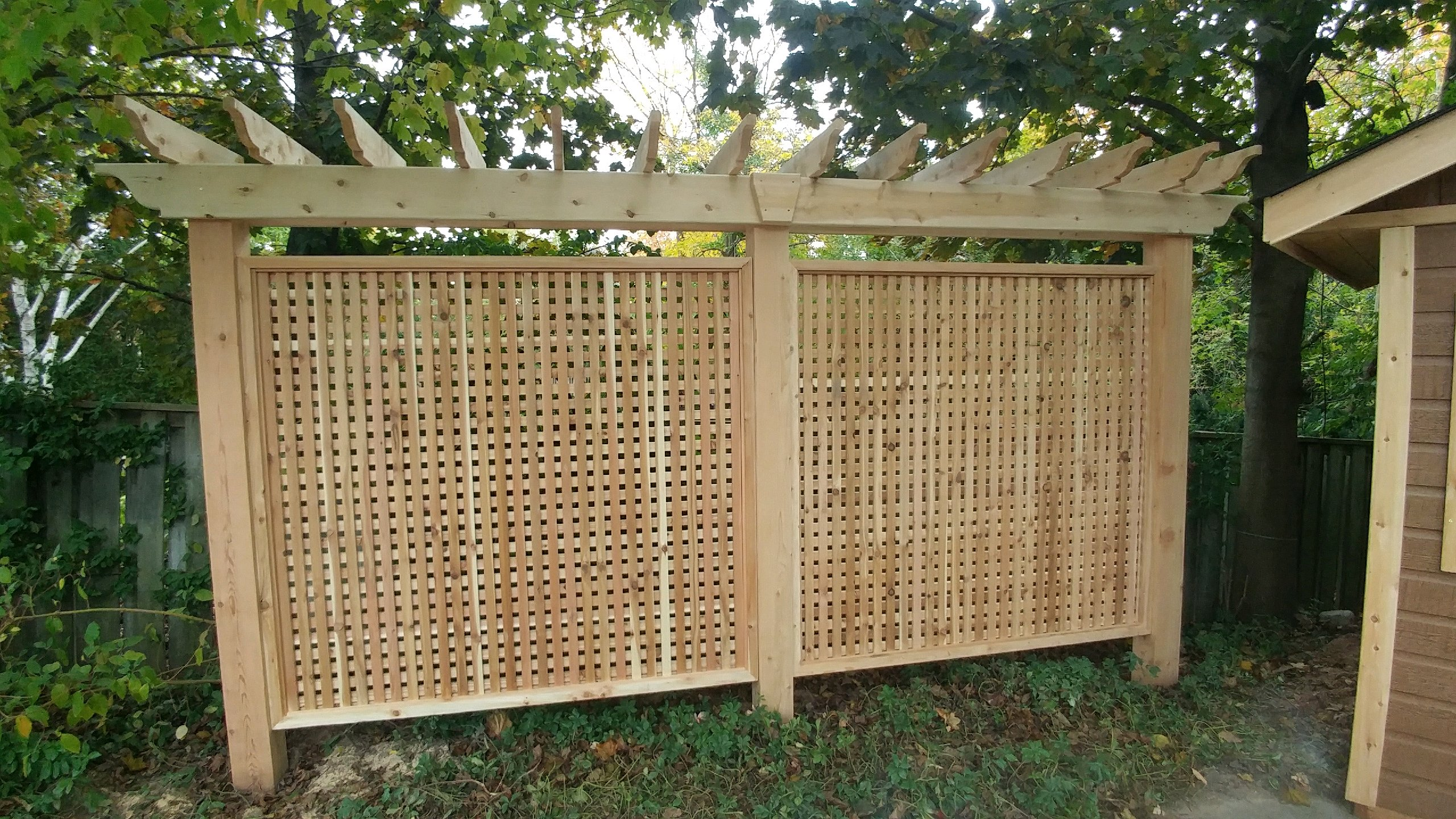 Custom cedar screen