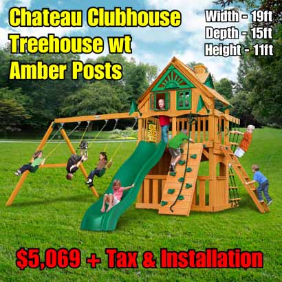 OLD Horizon Clubhouse NEW Chateau Clubhouse Treehouse wt Amber Posts NEW