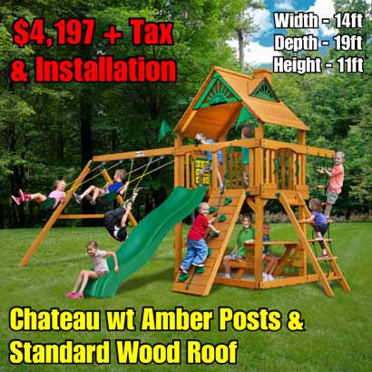 OLD Horizon (Standard Wood Roof) NEW Chateau wt Amber Posts & Standard Wood Roof NEW