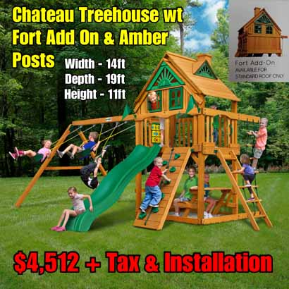 OLD Horizon (Treehouse wt Fort Add on) NEW Chateau Treehouse wt Fort Add On & Amber Posts NEW