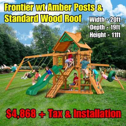 OLD Horizon wt Tire SwingRamp NEW Frontier wt Amber Posts & Standard Wood Roof NEW