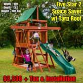 OLD Redbrook Space Saver wt Tarp Roof NEW Five Star Space Saver wt Tarp Roof NEW