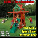 OLD Redbrook Space Saver wt Wood Roof NEW Five Star 2 Space Saver wt Wood Roof NEW
