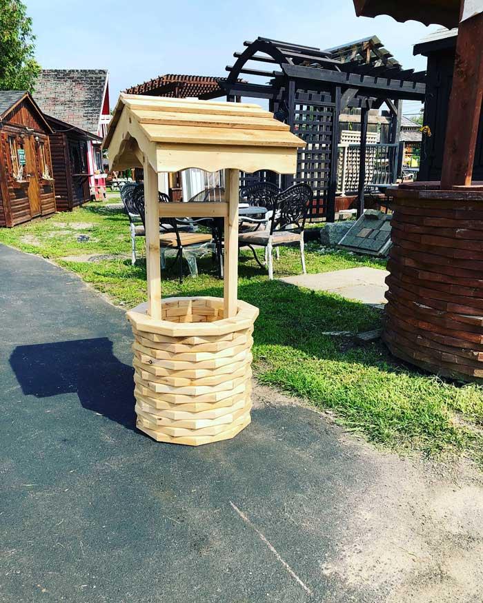 Cedar Decorative Well